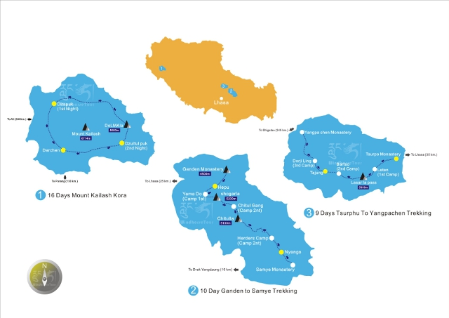 Top 3 Tibet Trekking Tours
