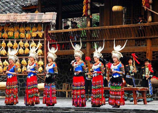 Guizhou Minority People Dancing