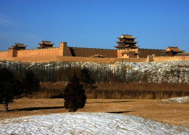 Imposing Jiayuguan Great Wall - Famous Attraction in Silk Road Safari