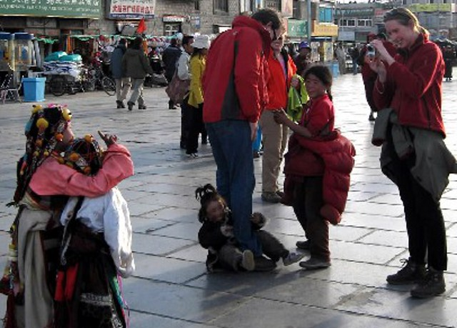 Foreigners Taking Photos in Tibet