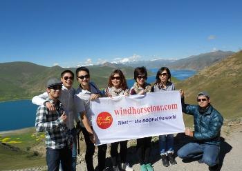 Tibet Chengdu Train Tour Clients Photo