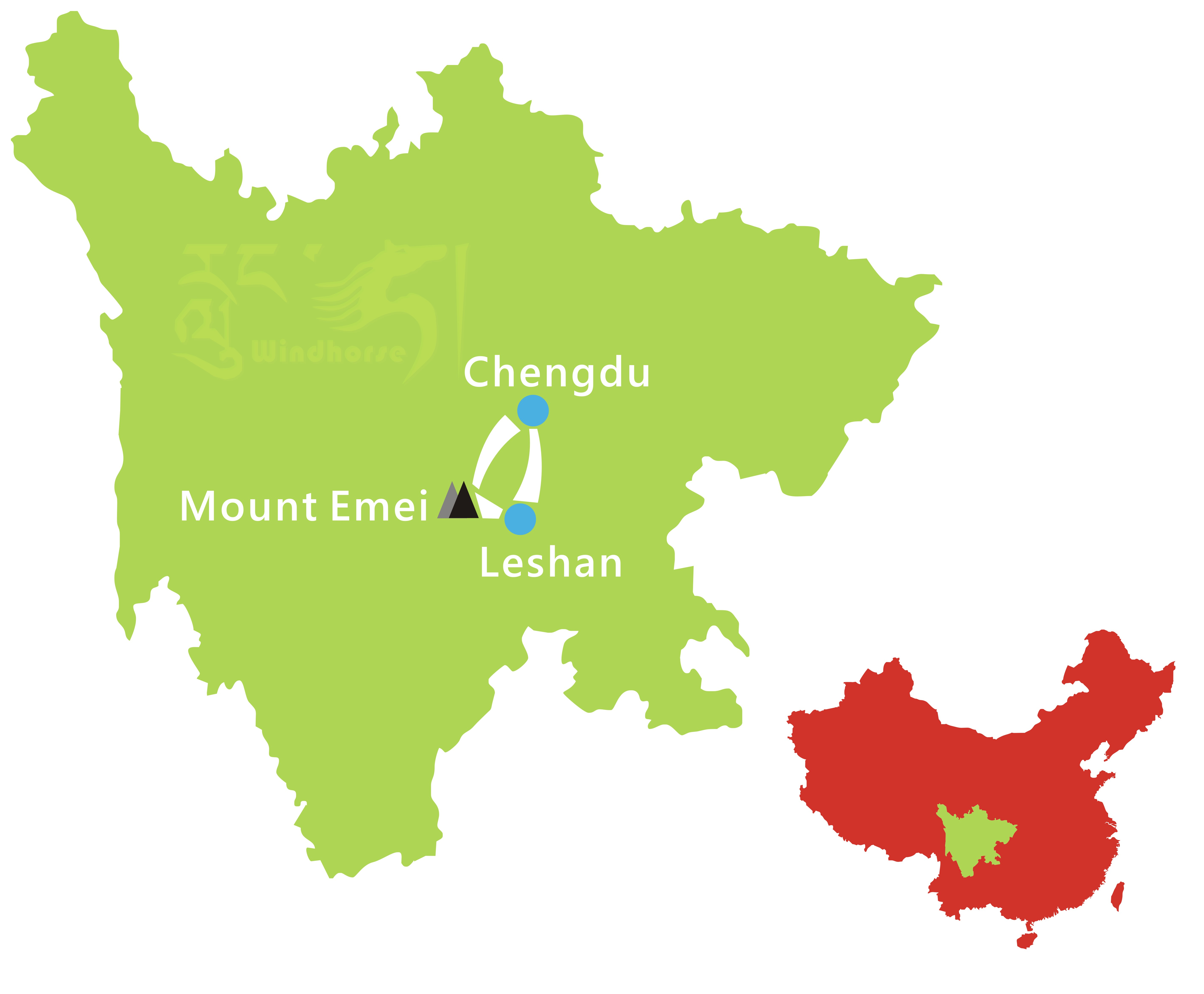 Sichuan Mount Emei Tour Route