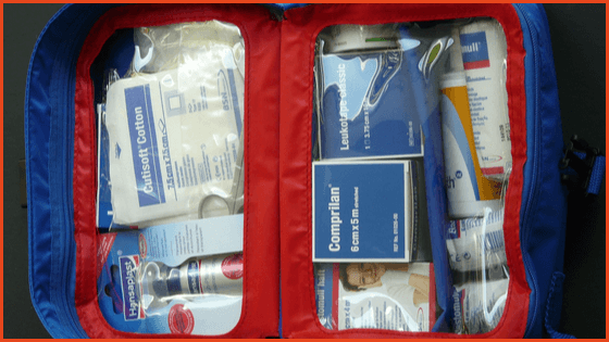 Bring a small first aid kit for your trip