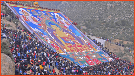 Traveling Tibet during the Shoton Festival