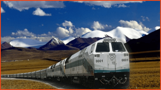 Traveling to Tibet by train