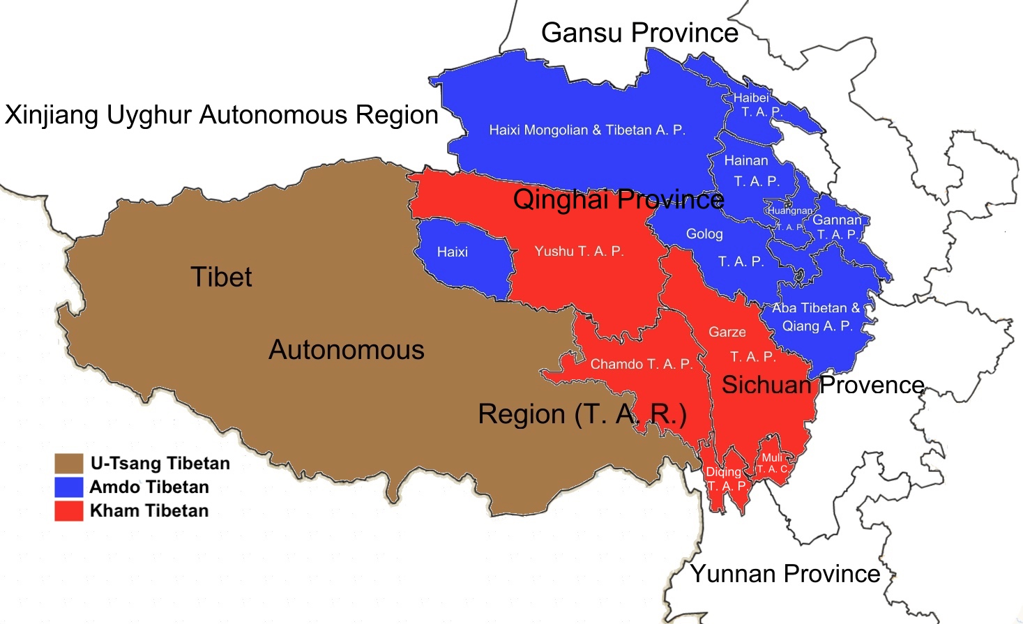 three main tibetan regions