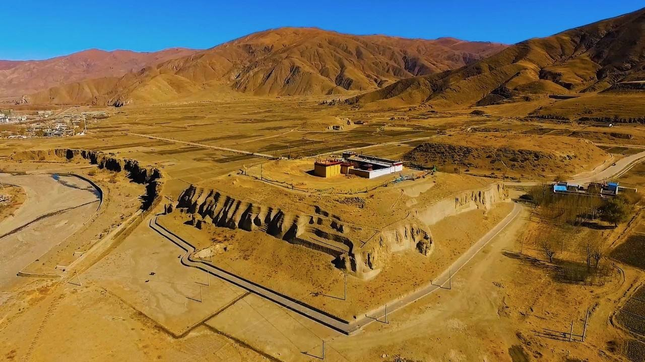 Over look the tombs of Tibetan kings