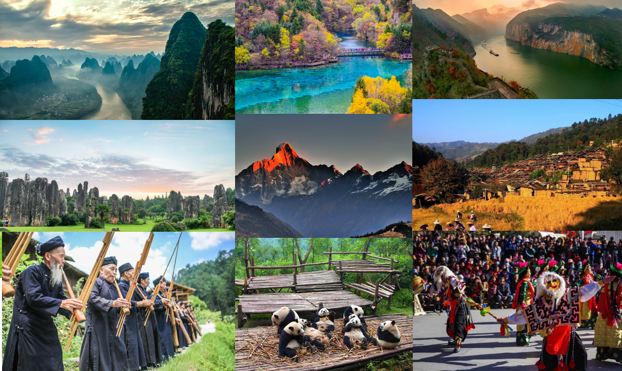 Natural wonders and ethnic groups in China