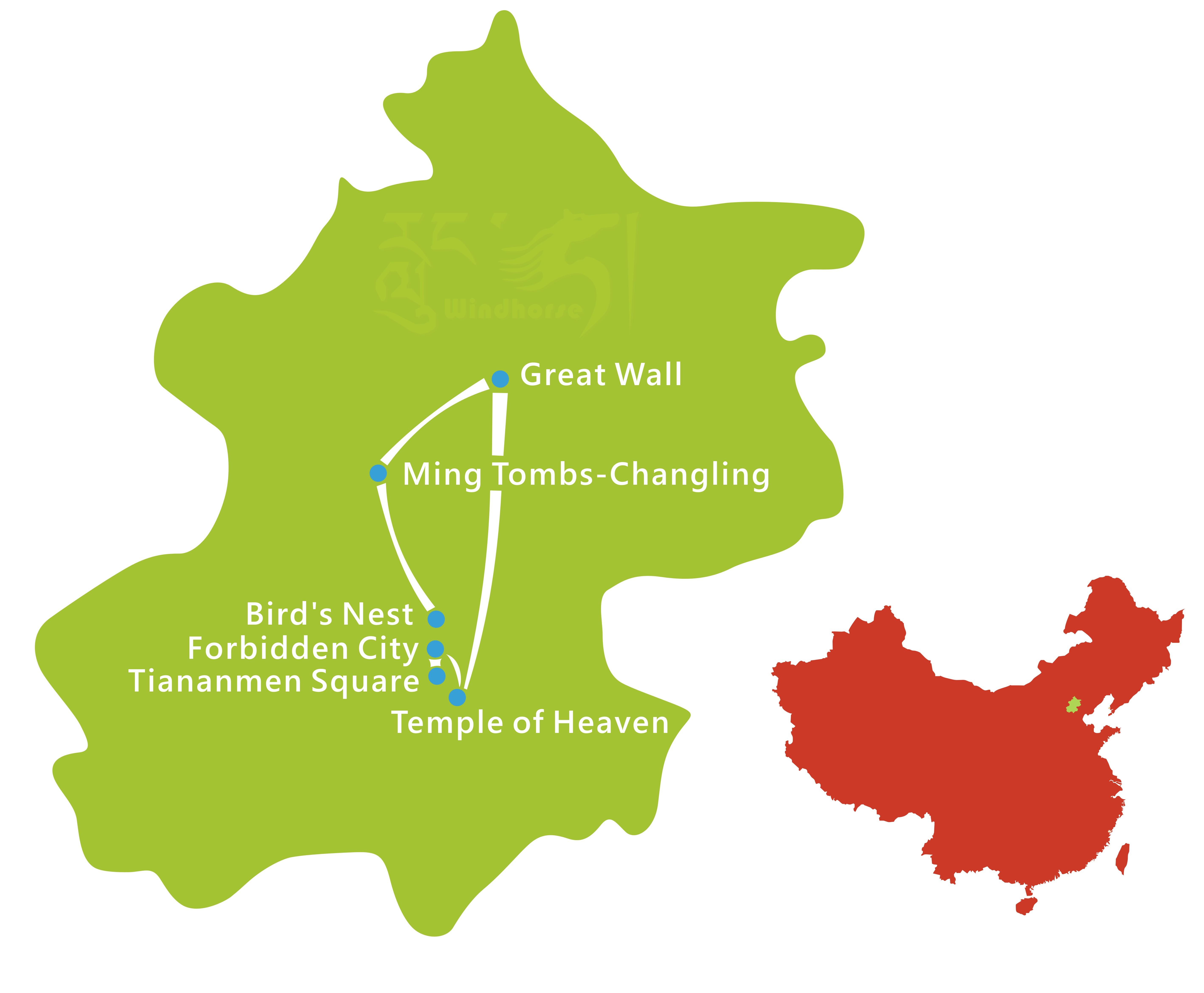 Beijing Walking Tour Map