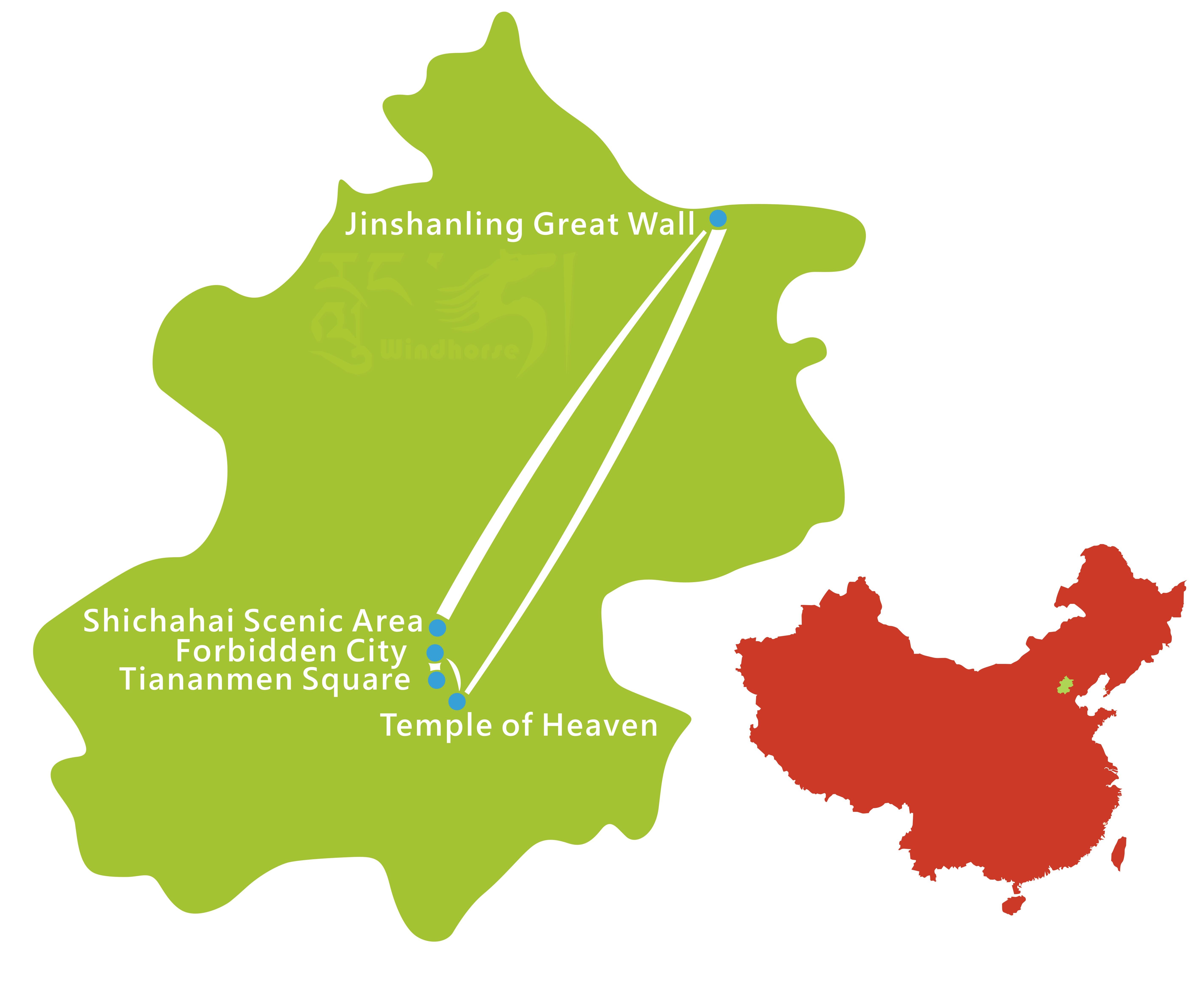 Beijing Hiking Tour Map