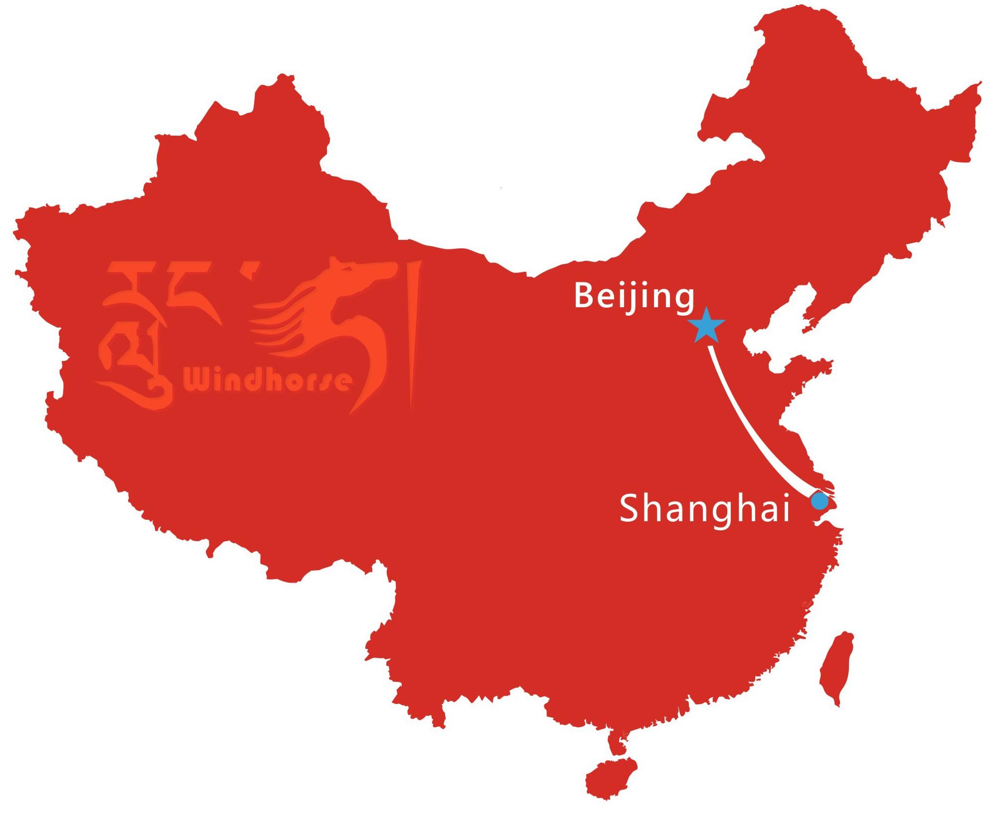Beijing Shanghai Tour Map