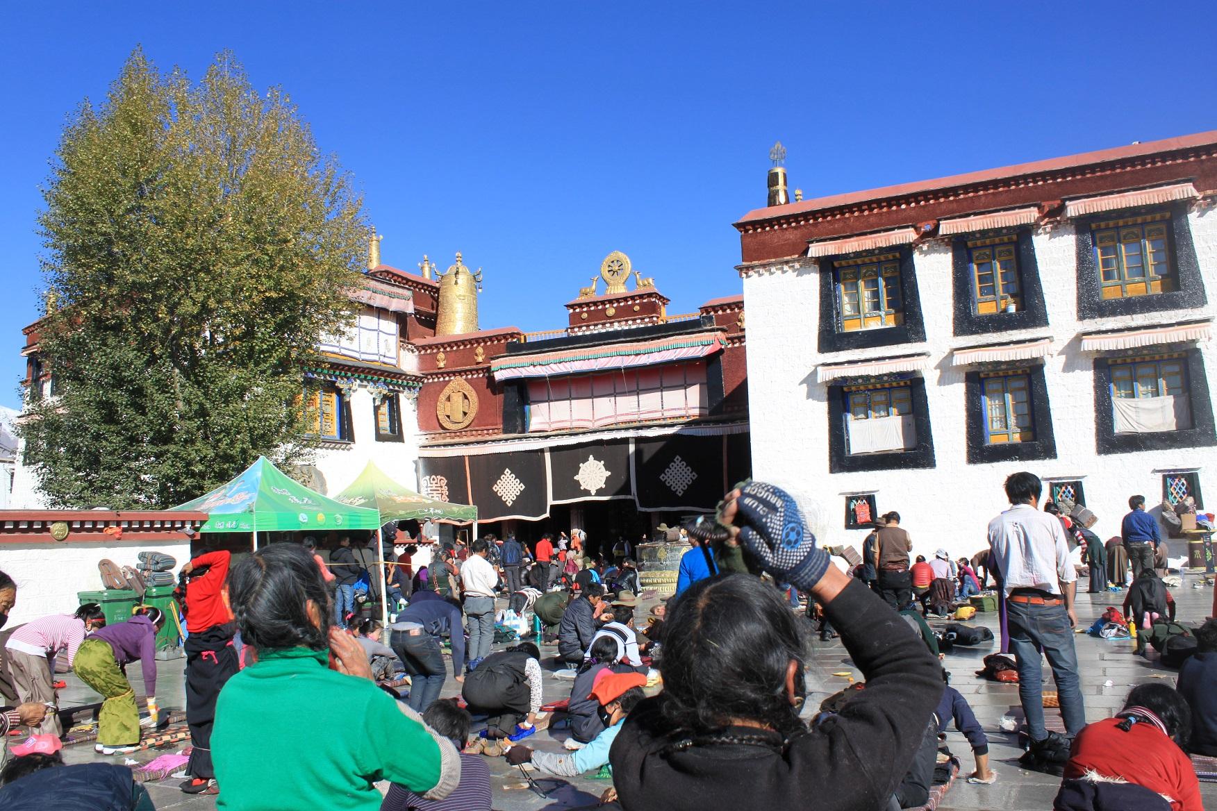 Tibetan Pilgrims at Jokhang Temple
