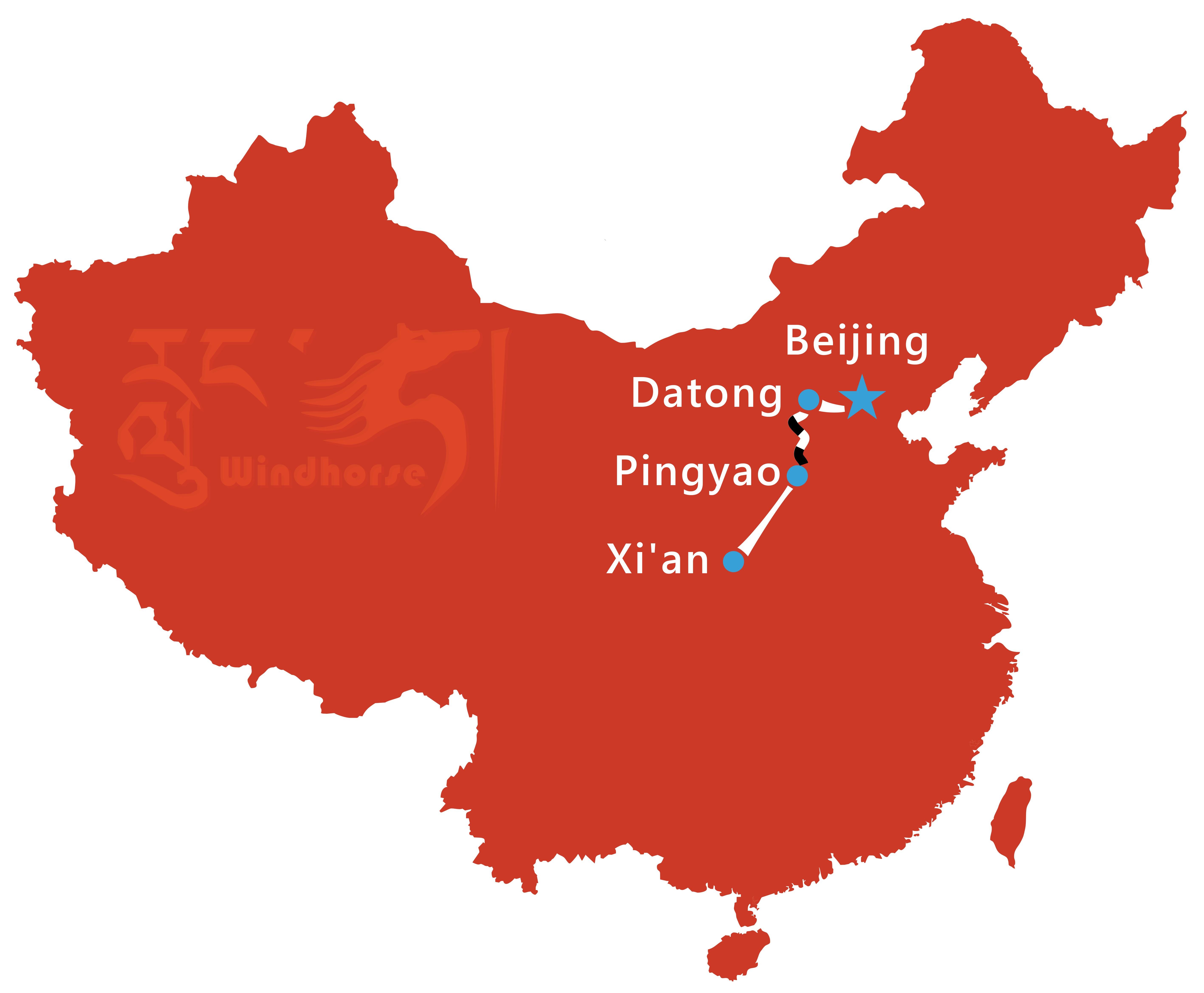 Beijing Xian Tour Route