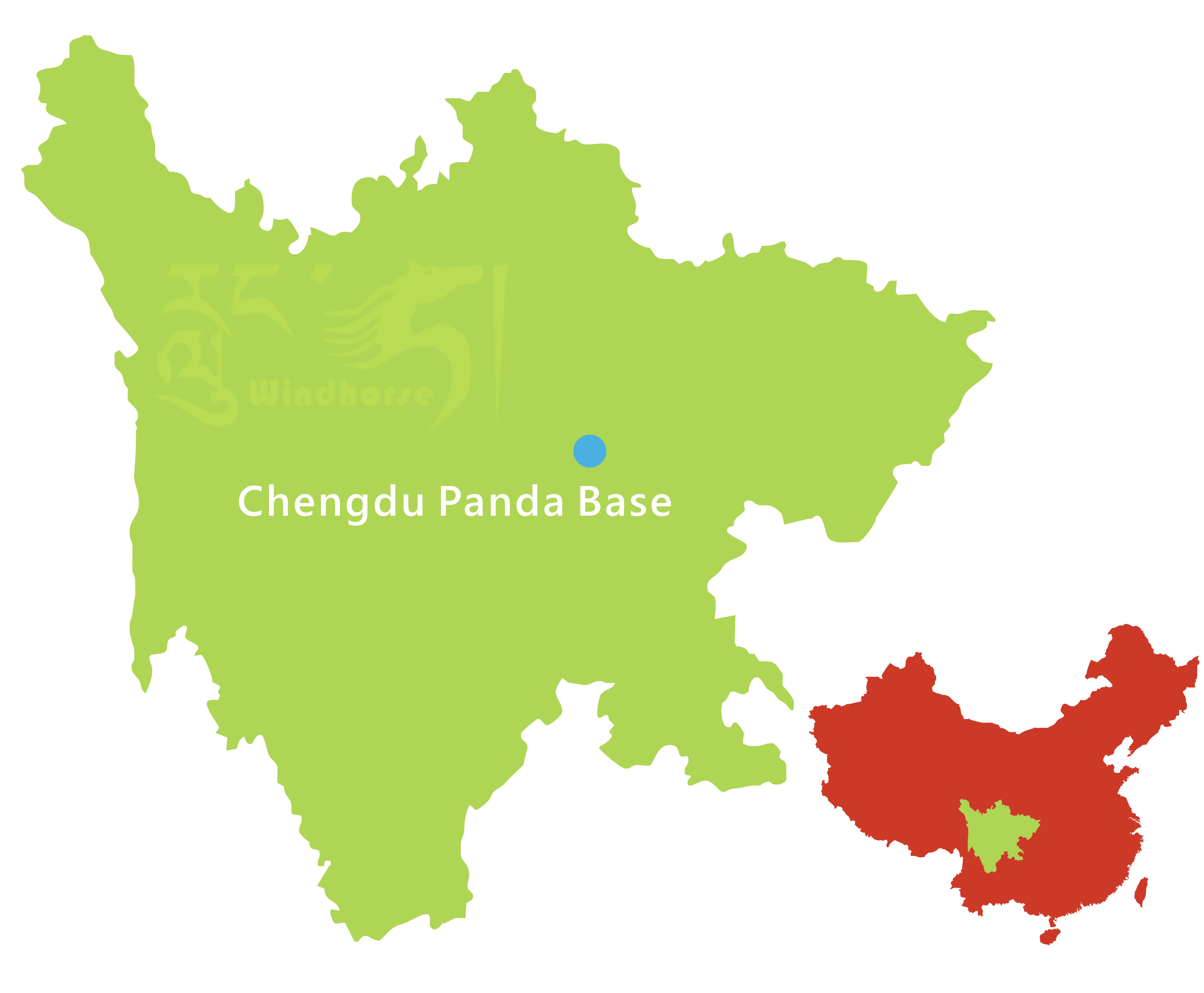 Chengdu Panda Volunteering Tour Route