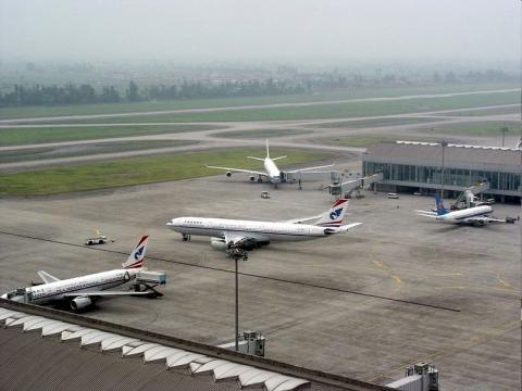 Chengdu Shuangliu Airport tarmac - Sichuan, China