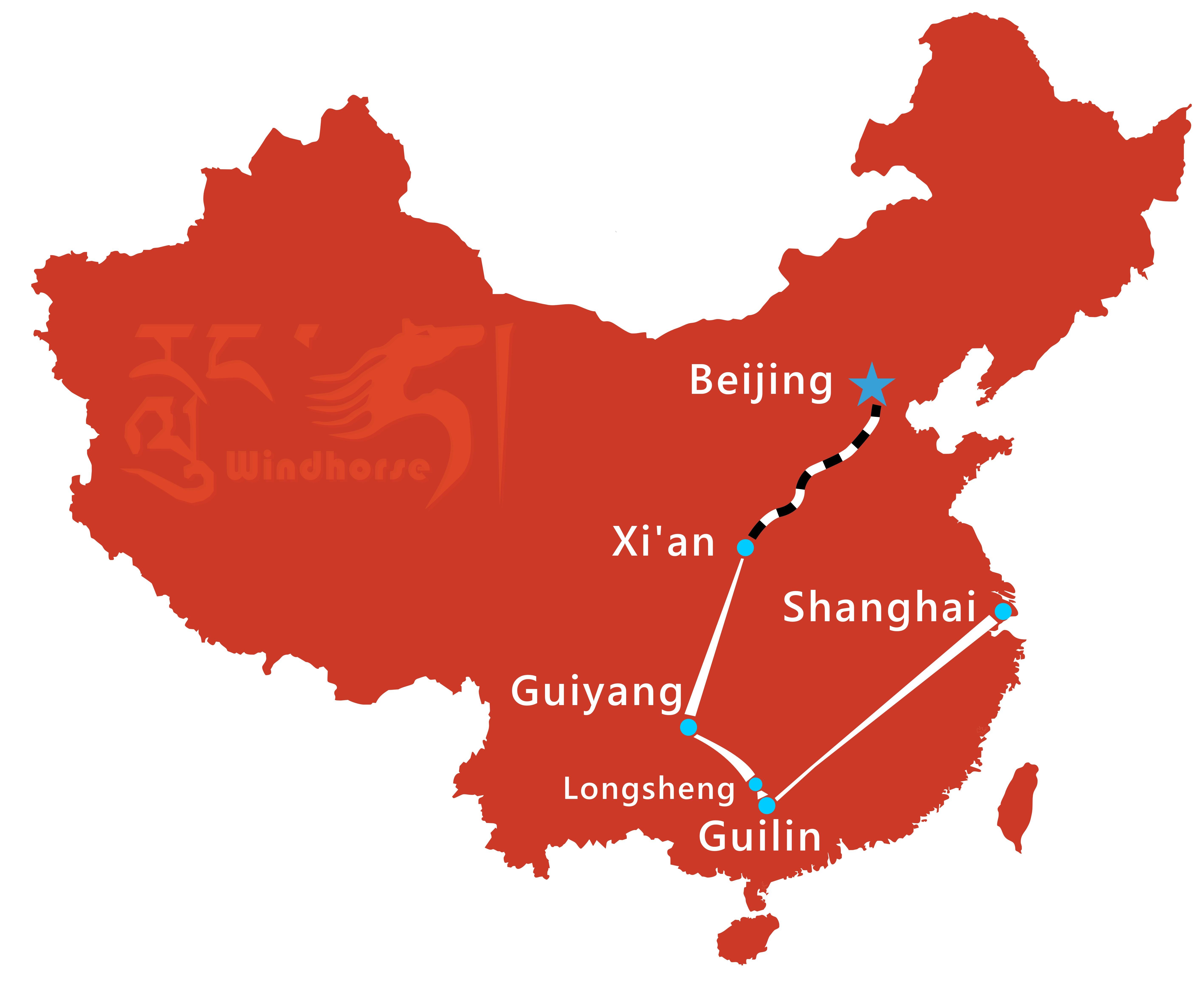 China Minority Tour Route