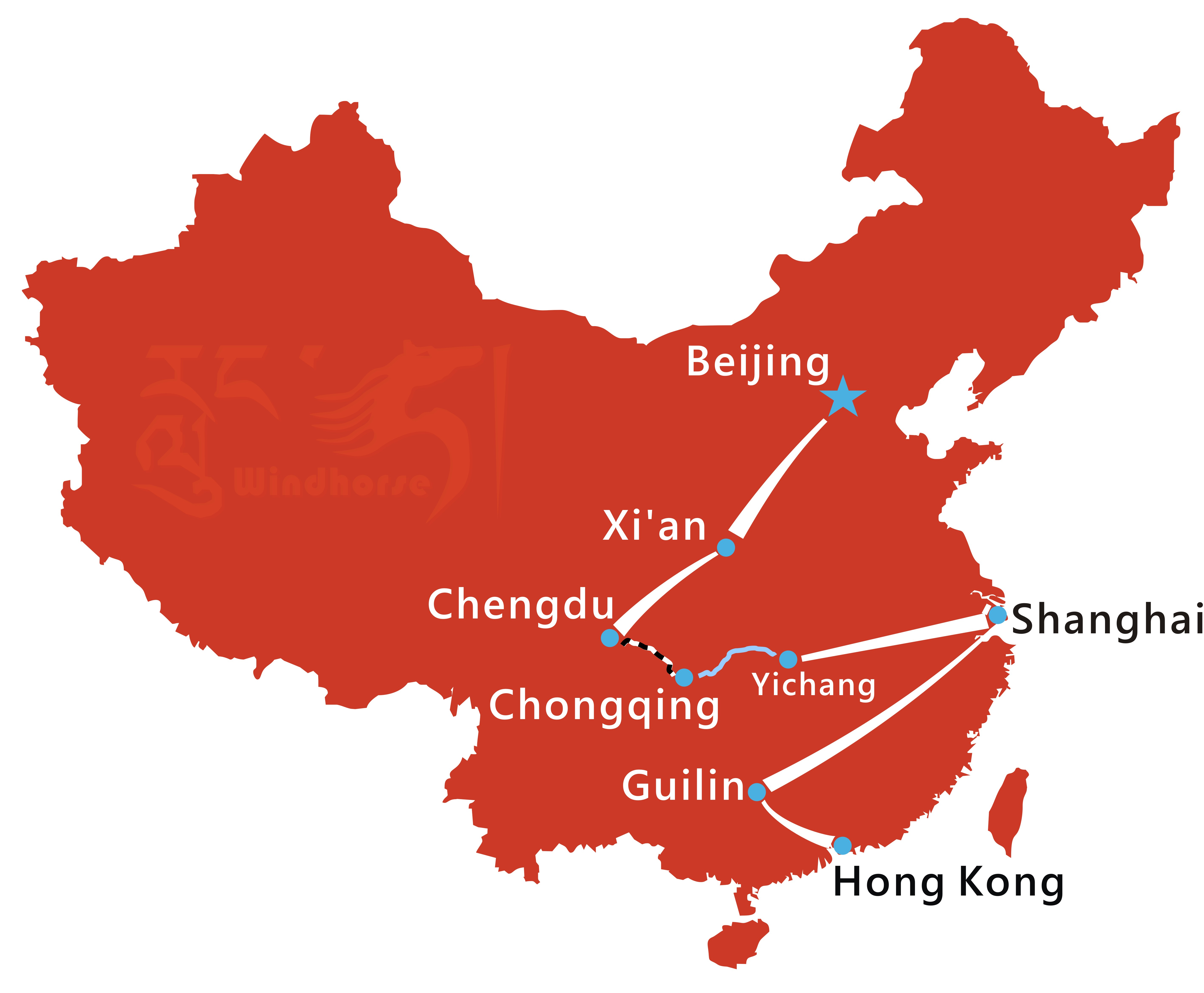 Classic China Tour Route