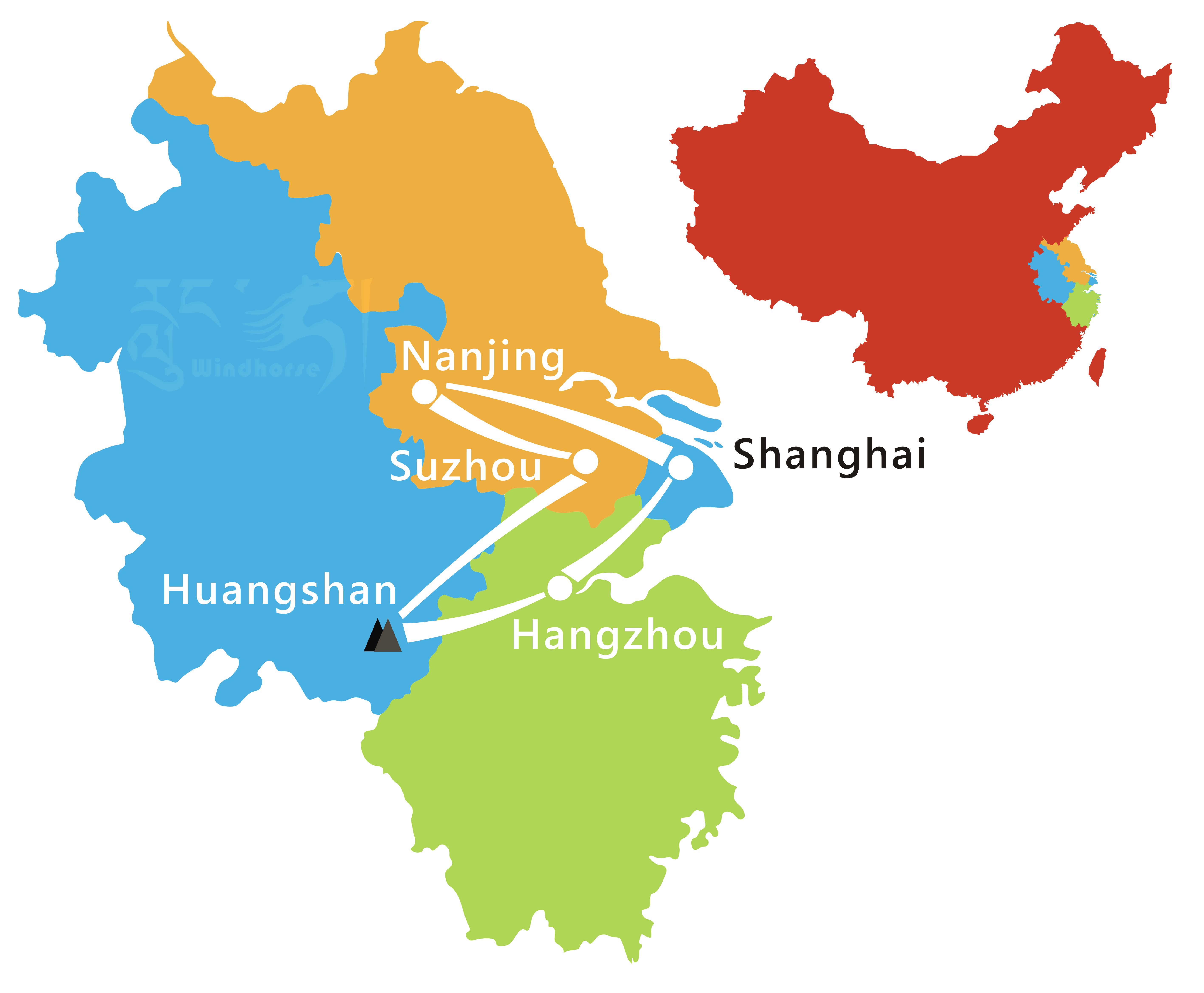 East China Tour Route