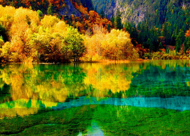 Jiuzhaigou in Fall