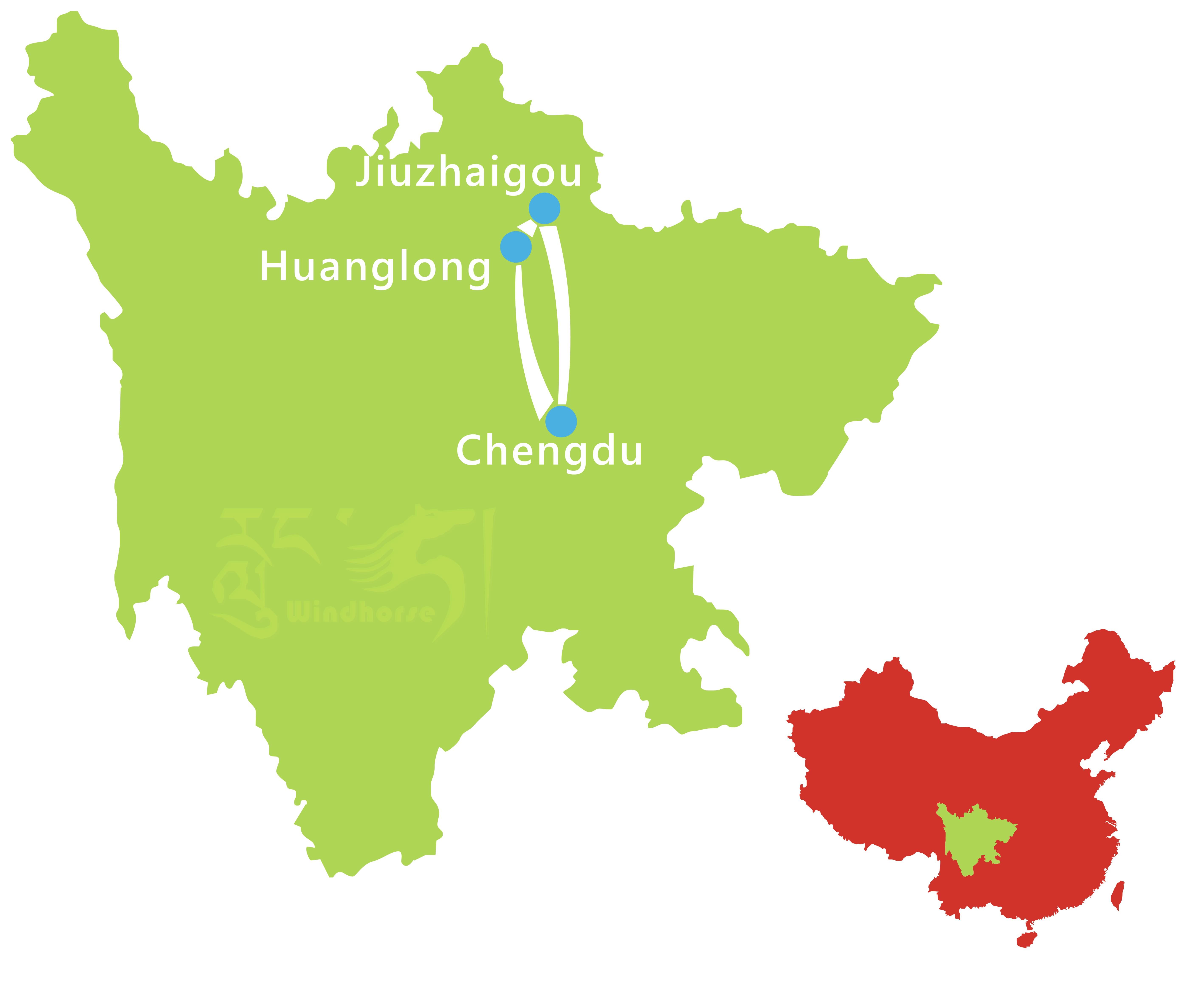 Jiuzhaigou Photography Tour Route