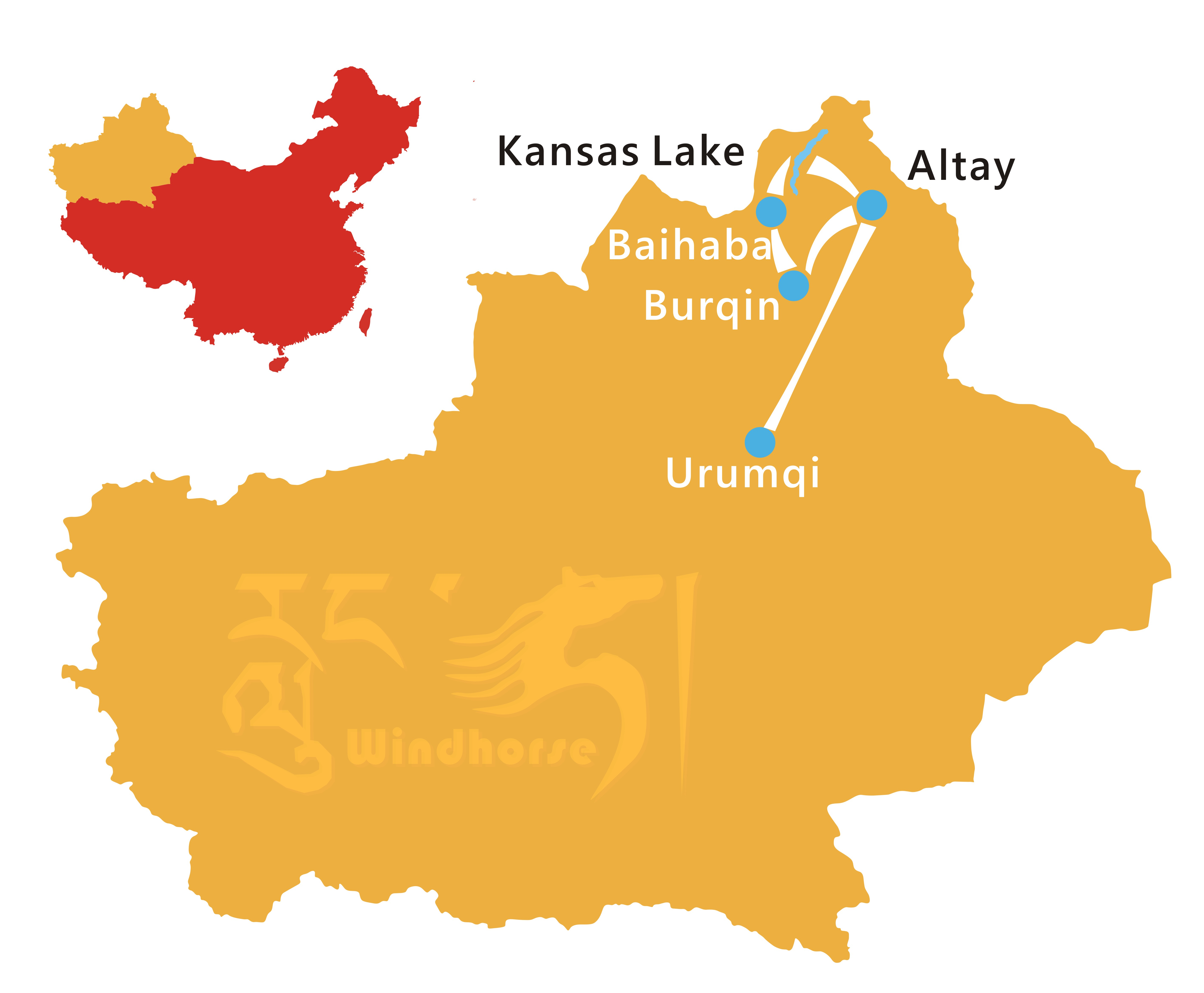 Kanas Lake Tour Route