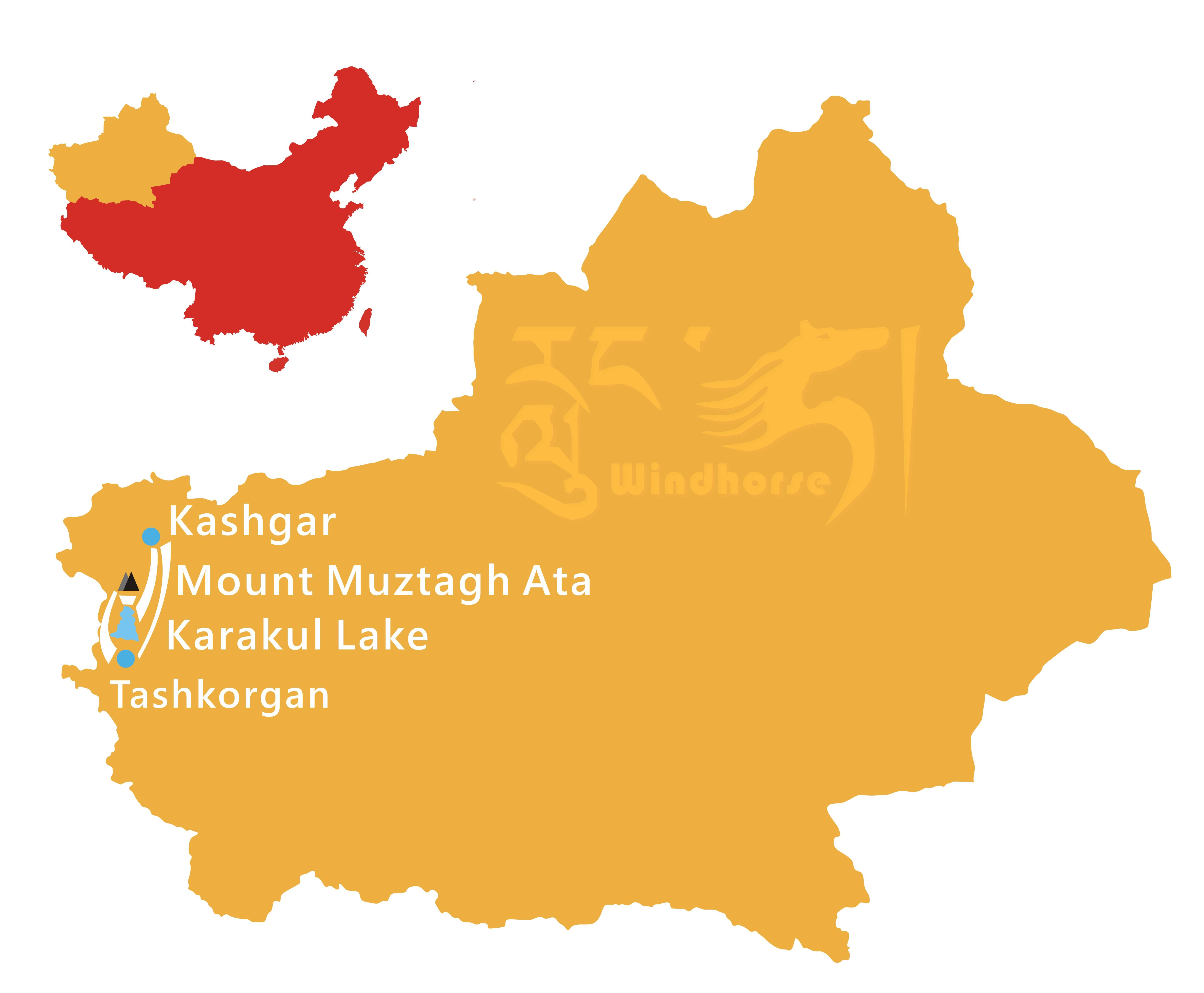 Kashgar Trekking Tour Route