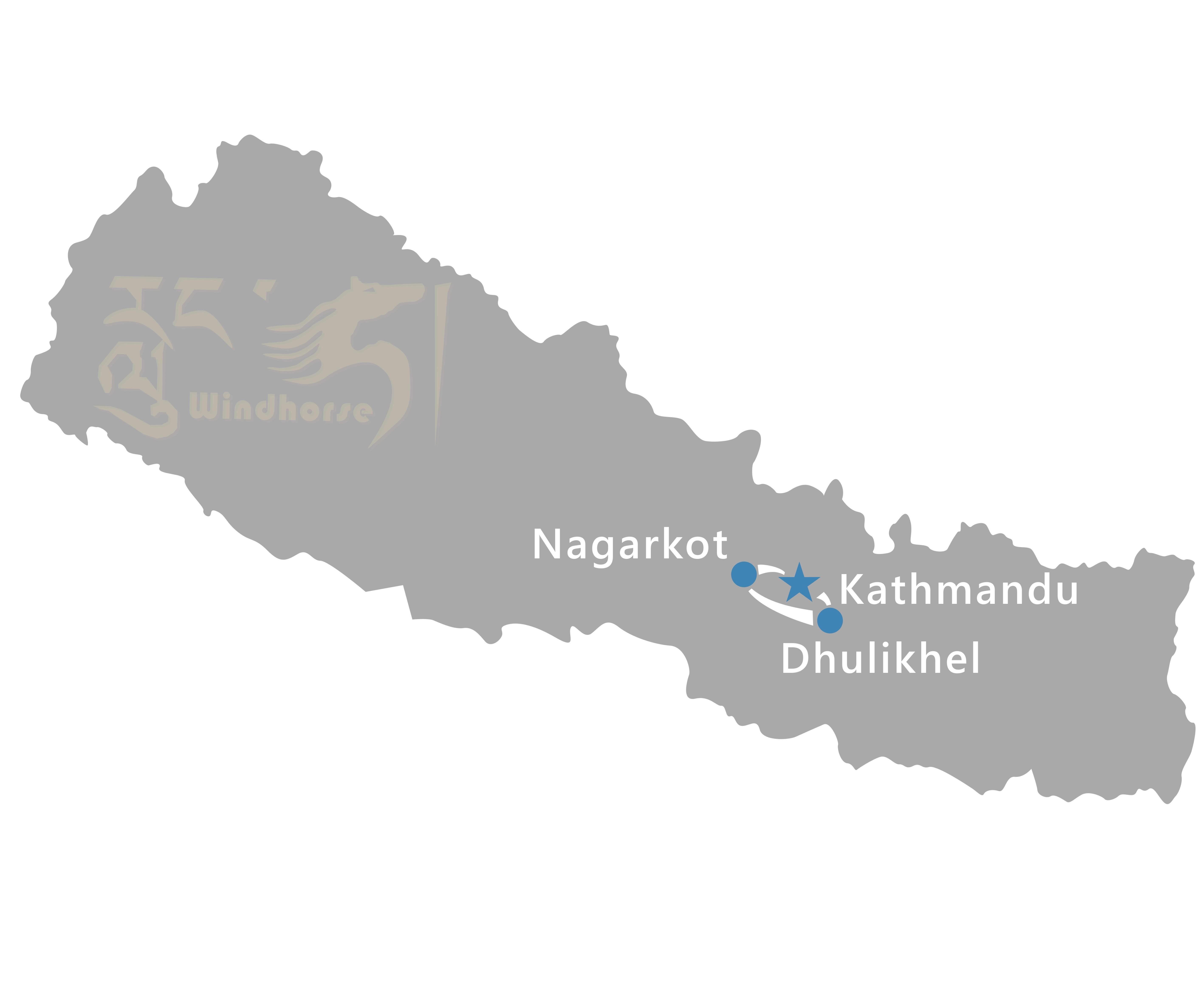 Kathmandu to Dhulikhel Tour Route