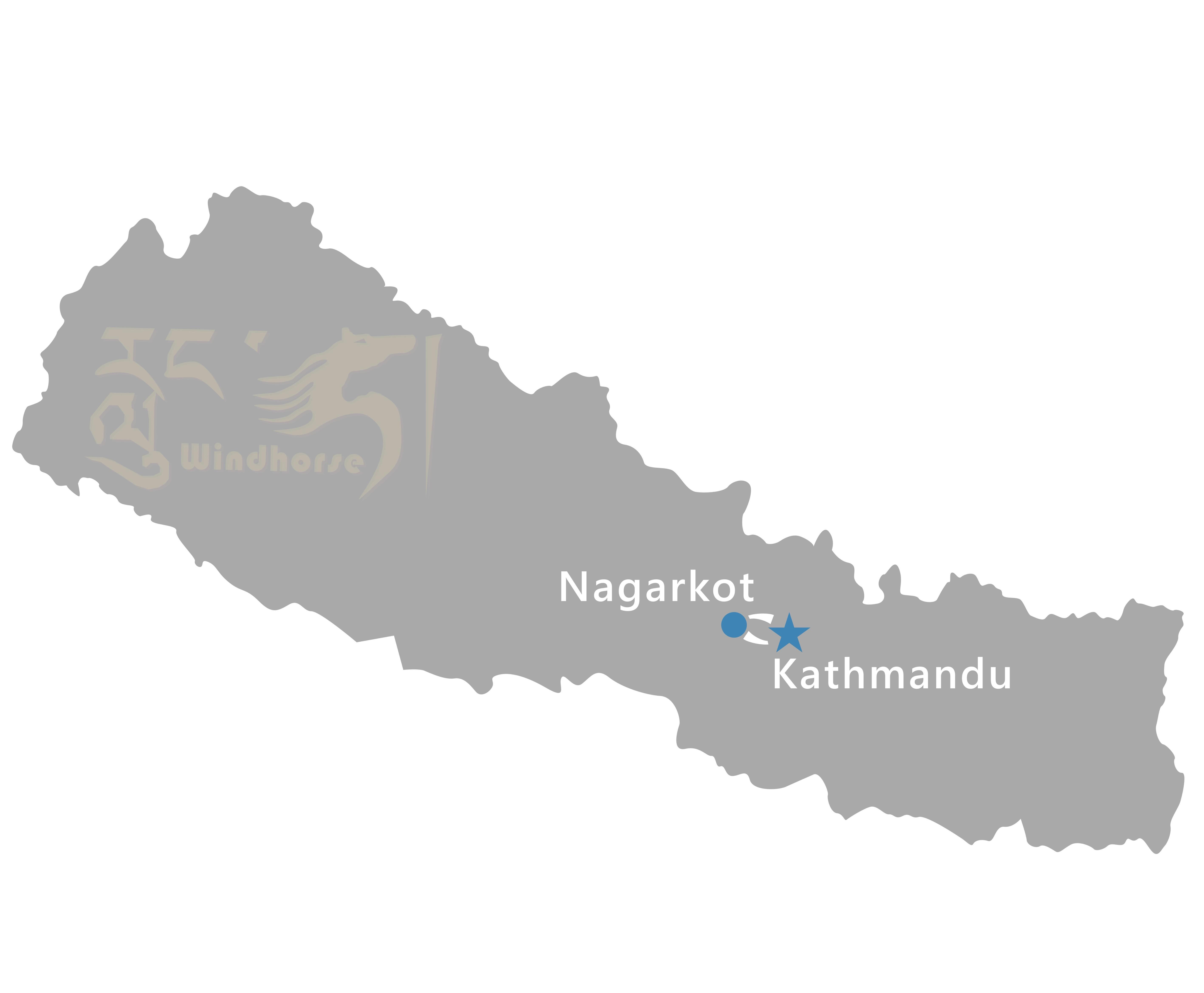 Kathmandu to Nagarkot Tour Route