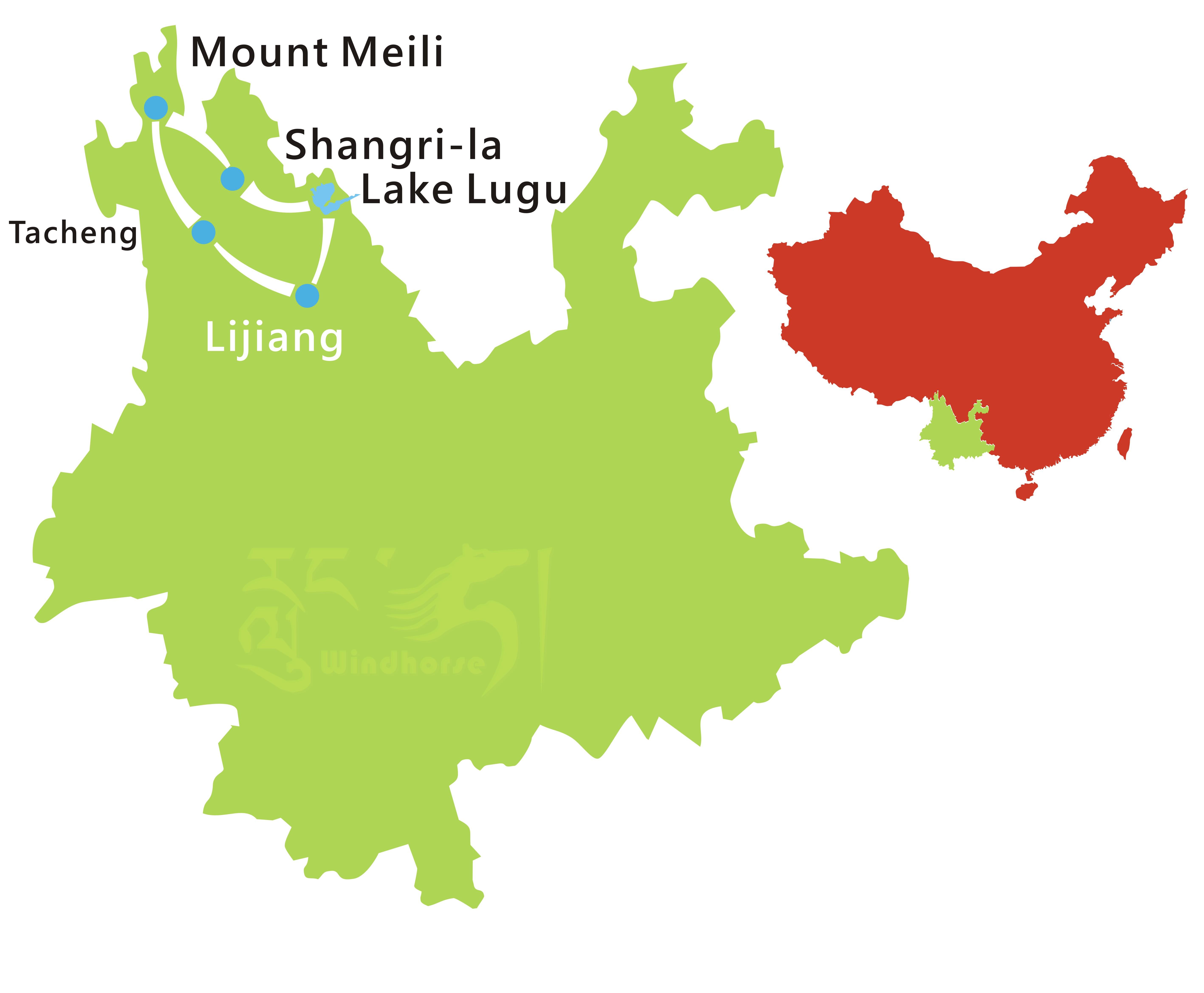 Yunnan Minority Tour Route
