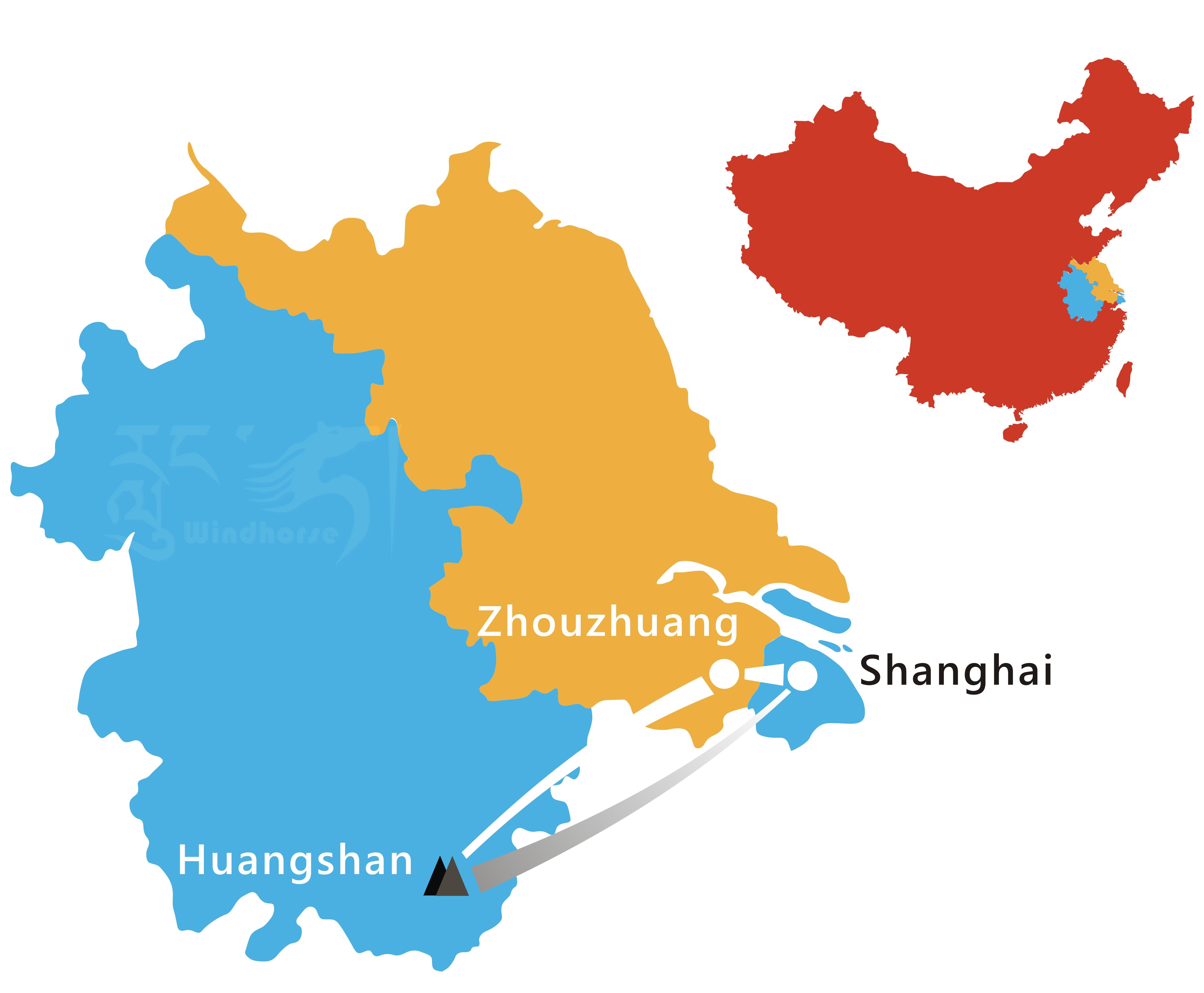 Shanghai Huangshan Tour Route