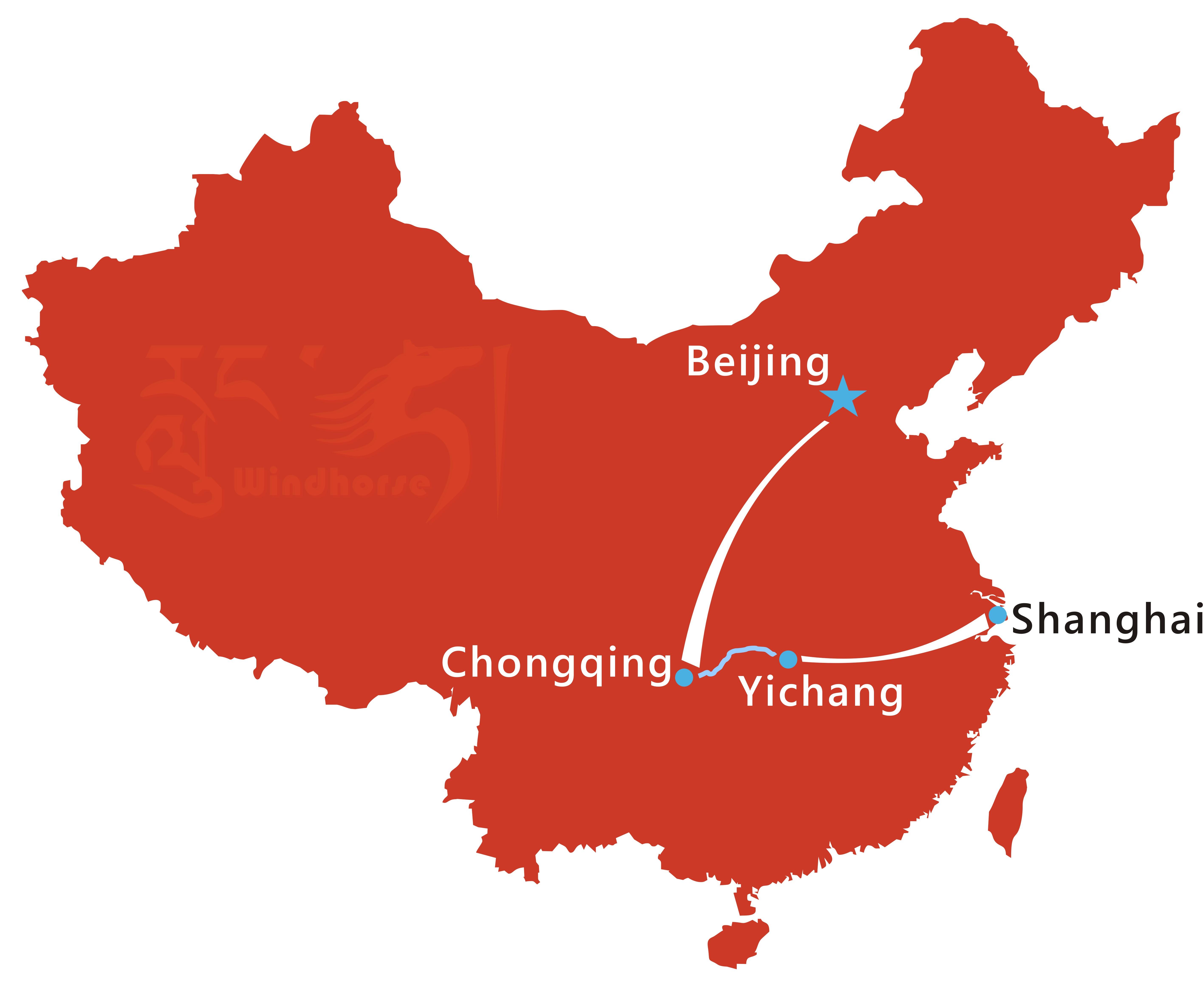 Shanghai Yangtze River Cruise Route