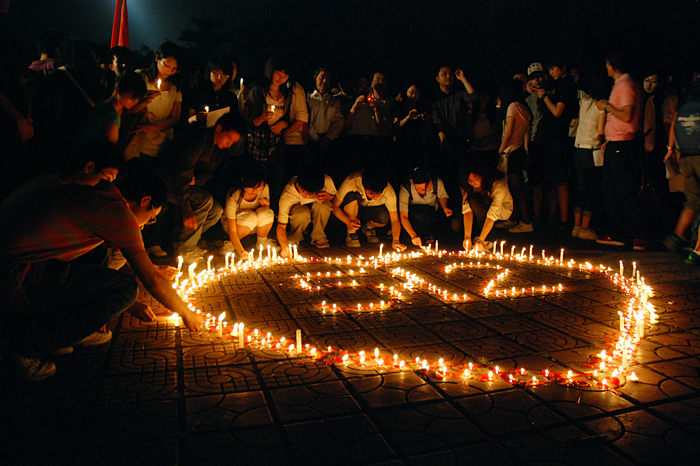 2008 Sichuan Earthquake Victimes Candle Memorial
