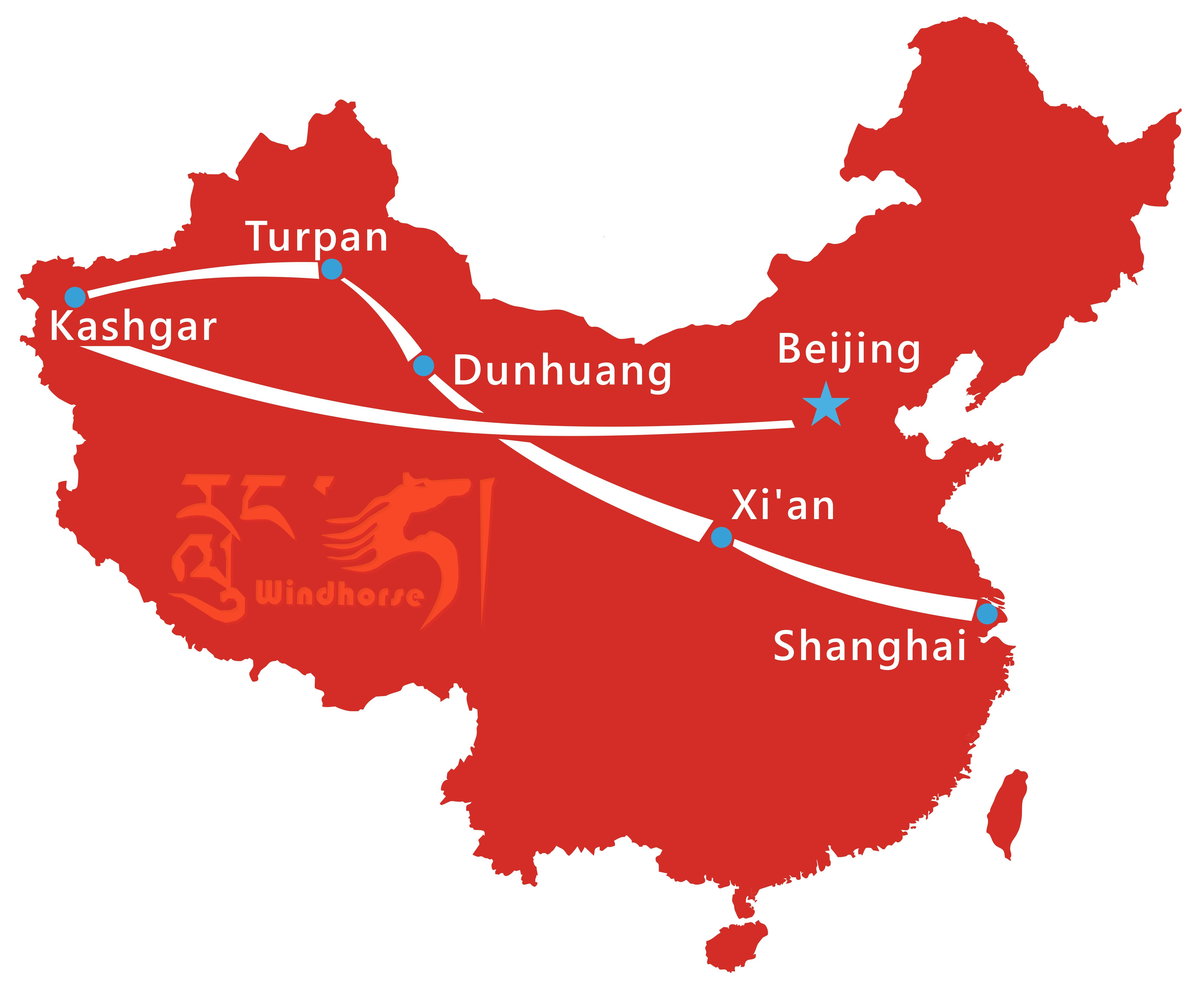 Tour Route of Silk Road Explorer