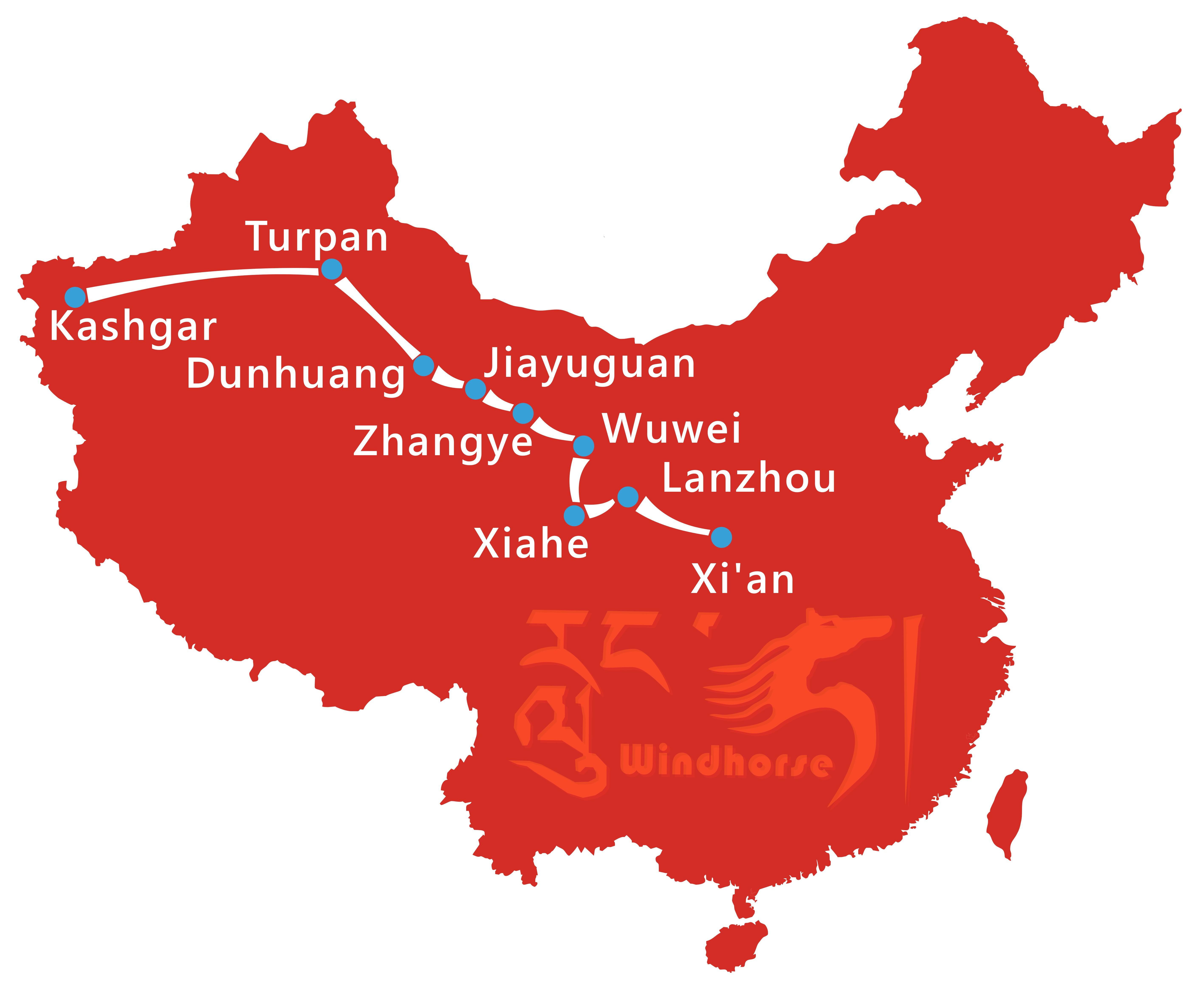 Silk Road Safari Tour Route