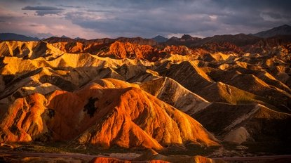 The Zhangye Danxia Landform at Sunset on a Zhangye Silk Road Tour