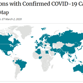 COVID-19 Spread on Global Map