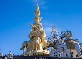 Mt. Emei golden summit Buddha statue