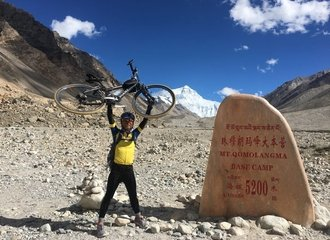 Everest base camp cycling