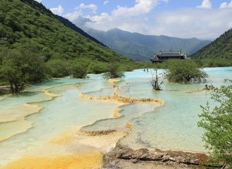 Huanglong park colorful pools