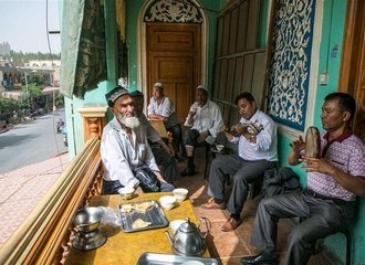 local people free time in kashgar