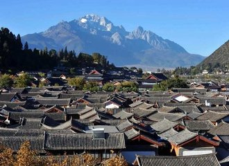 Lijiang old town bird view