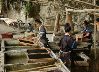Traditional paper making in Shiqiao