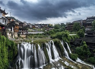Waterfall at Furong ancient town