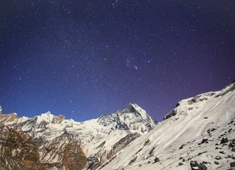 Night star views Annapurna trek