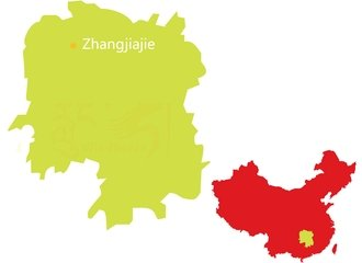 Zhangjiajie national parks tour map