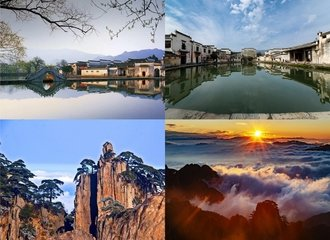 Views for the 3-day classical Huangshan tour