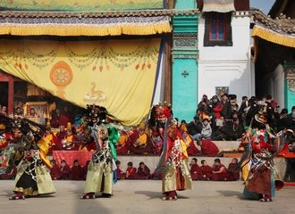 Powerful Cham dance at Lower Wutun village