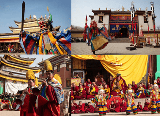 Cham dance at Gomar monastery