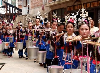 Girls at Lusheng festival