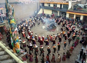 Shaman festival at Wutun village